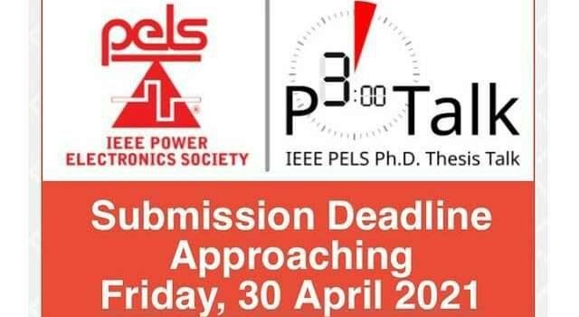 IEEE PELS Ph.D. Thesis Talk Award (P3 Talk)