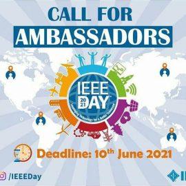 Call for IEEE Ambassador: IEEE Day 2021