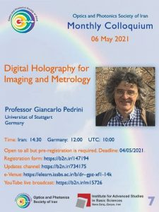 Digital Holography for Imaging and Metrology